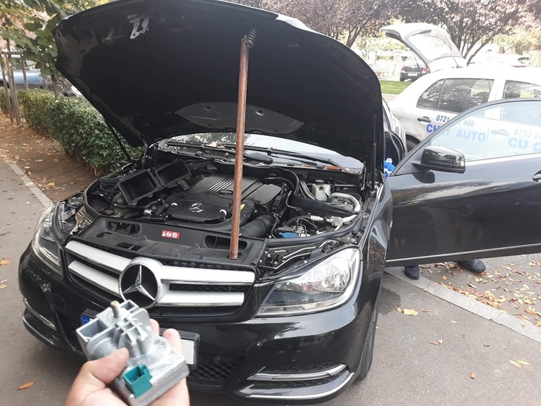 Blocator Volan Defect Mercedes C Class W204 2013 Probleme Pornire